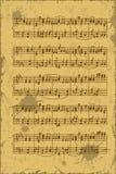 Hoja de las notas del bastón de la música Fotos de archivo