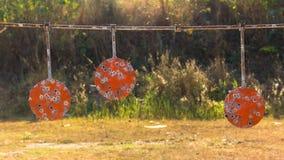 Hoja de los ejercicios de tiro del tiroteo imagen de archivo libre de regalías