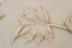 Hoja de mármol Foto de archivo libre de regalías