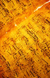 Hoja de música Foto de archivo