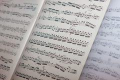 Hoja de música Fotos de archivo libres de regalías