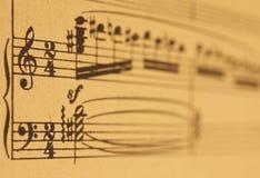Hoja de música fotografía de archivo