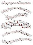 Hoja de música Imágenes de archivo libres de regalías