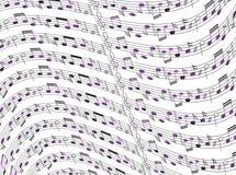 Hoja de música Fotos de archivo