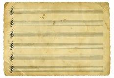 Hoja de música de la vendimia Fotografía de archivo libre de regalías