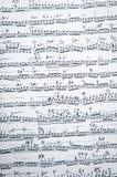 Hoja de música del vintage Foto de archivo libre de regalías
