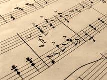 Hoja de música vieja Imágenes de archivo libres de regalías