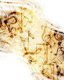 Hoja de música vieja Imagen de archivo