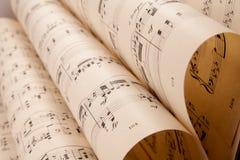 Hoja de música vieja fotos de archivo libres de regalías