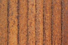 Hoja de metal acanalada de la corrosión Fotografía de archivo