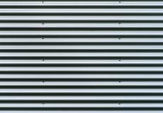 Hoja de metal acanalada Modelo del fondo de los gris plateados Imagen de archivo libre de regalías