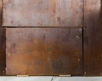 Hoja de metal aherrumbrada vieja Superficie oxidada causada por el hierro de la oxidación imagen de archivo