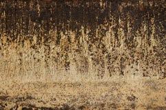 Hoja de metal aherrumbrada vieja Superficie oxidada causada por el hierro de la oxidación fotografía de archivo libre de regalías