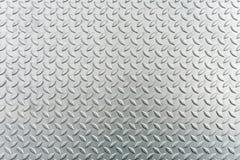 Hoja de metal de acero del checkerplate, fondo de la textura de la hoja de metal Foto de archivo