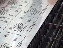 Hoja de metal del corte de gas del CNC imágenes de archivo libres de regalías