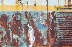 Hoja de metal oxidada Fotos de archivo libres de regalías