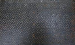 Hoja de metal sucia y usada de acero de la placa del inspector puede estar el uso como fondo o textura fotos de archivo