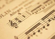 Hoja de música Imagen de archivo