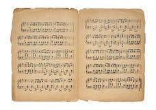 Hoja de música de la vendimia Foto de archivo libre de regalías