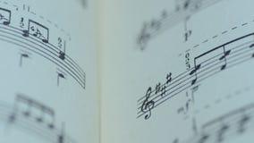 Hoja de notas musicales, Dolly Shot motorizada almacen de video