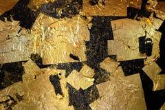 Hoja de oro Imágenes de archivo libres de regalías