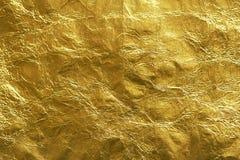 Hoja de oro brillante conveniente para el fondo de lujo Fotos de archivo