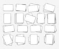 Hoja de papel aislada hecha a mano Página en estilo del bosquejo Imagen de archivo