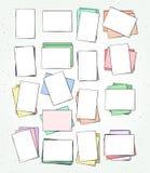 Hoja de papel aislada hecha a mano Página en estilo del bosquejo Fotos de archivo