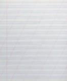 Hoja de papel alineada Foto de archivo