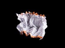 Hoja de papel blanca arrugada Imágenes de archivo libres de regalías