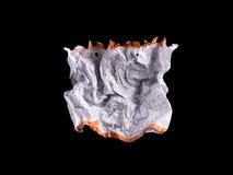 Hoja de papel blanca arrugada Imagen de archivo