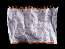 Hoja de papel blanca arrugada Foto de archivo