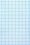 Hoja de papel Checkered Foto de archivo libre de regalías