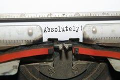 Hoja de papel con la inscripción en la máquina de escribir Fotografía de archivo