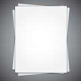 Hoja de papel vacía Fotos de archivo