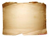 Hoja de papel vieja Fotos de archivo libres de regalías