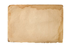 Hoja de papel vieja Imagenes de archivo