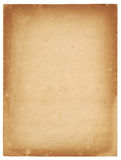 Hoja de papel vieja Fotografía de archivo libre de regalías