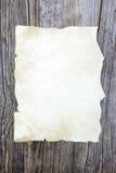 Hoja de papel vieja Imagen de archivo libre de regalías
