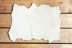 Hoja de papel vieja en blanco Fotos de archivo libres de regalías