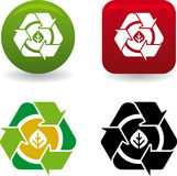 Hoja de Reciclar (vecteur) Images libres de droits