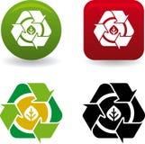 Hoja de Reciclar (vector) Imágenes de archivo libres de regalías