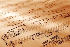 Hoja de símbolos musicales Imágenes de archivo libres de regalías