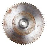 Hoja de sierra circular vieja fotografía de archivo libre de regalías