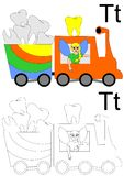 Hoja de trabajo de la letra T Imagen de archivo libre de regalías
