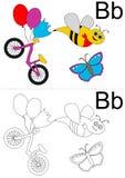 Hoja de trabajo del alfabeto Imagen de archivo libre de regalías