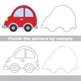Hoja de trabajo del dibujo para Toy Transport ilustración del vector