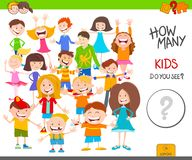 Hoja de trabajo del juego de los caracteres de los niños de la cuenta stock de ilustración