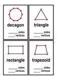 Hoja de trabajo de las formas de los lados y de las cimas de la cuenta para el vector preescolar de los niños libre illustration