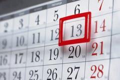 Hoja de un calendario de pared Imágenes de archivo libres de regalías